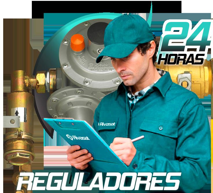 Sustitución regulador de gas en Rivas Vaciamadrid